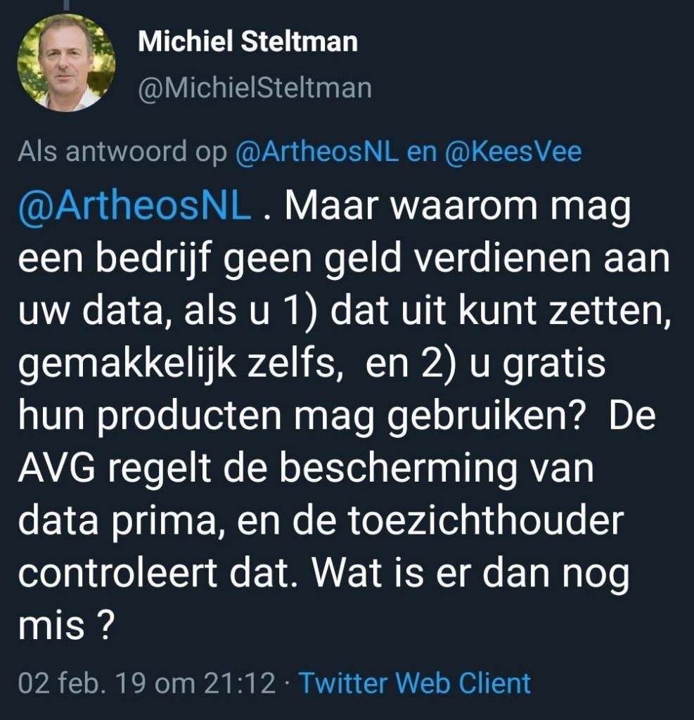 Tweet Michiel Steltman DINL
