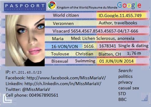 passport maria verzonnen